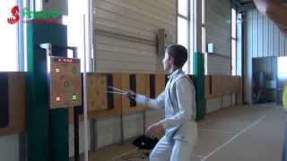 FAVERO: EFT-1 fencing target video with professional fencers(http://www.favero.com Video composition made by fencing master André Van Linthout. Electronic fencing target machine for epee and foil designed by FAVERO ..., 2013-08-01T14:59:03.000Z)