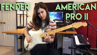 Playing with the new Fender American Pro II Stratocaster