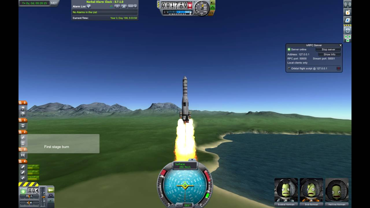 Automated to Orbit in KSP with kRPC and Python