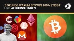 5 Gründe warum Bitcoin 100% steigt und Altcoins sinken
