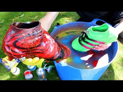 Spray Paint Football Boots