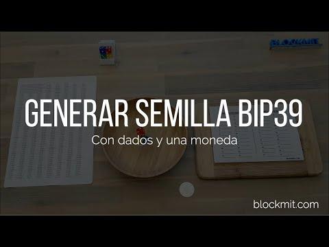 Generar semillas BIP39 con dados y una moneda