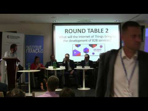 Round Table 2   What will the IoT bring to the development of B2B services   IoT Expo Bratislava 201