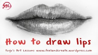 lips mouth draw drawing tutorial