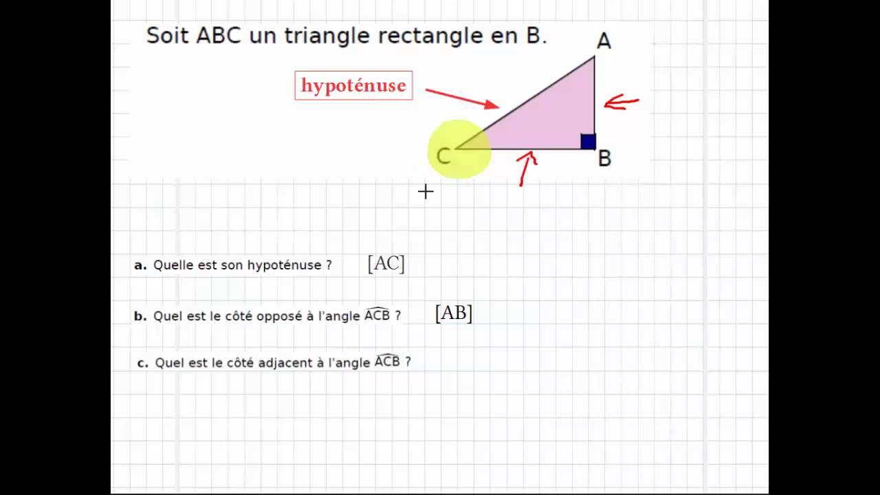 Trigonométrie : vocabulaire exercice - YouTube