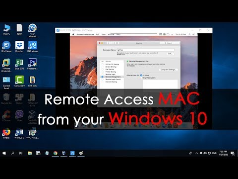 How to Remote Access Mac PC from Windows 10