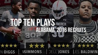 Watch the ten best plays from the Alabama 2016 recruiting class