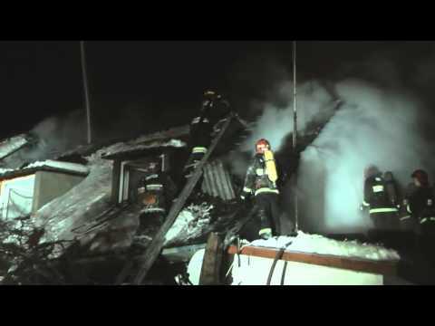 Пожар в квартире частного дома по 2-му пер. Переходному 20.01.2016