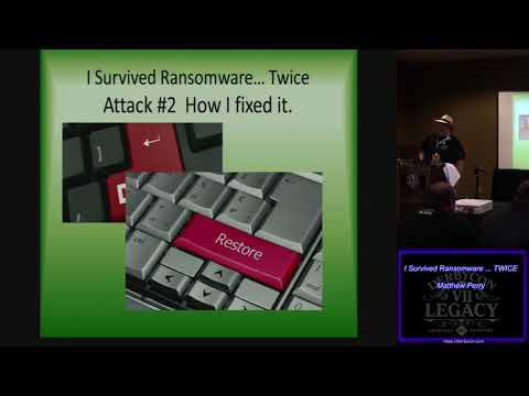 S27 I Survived Ransomware TWICE Matthew Perry
