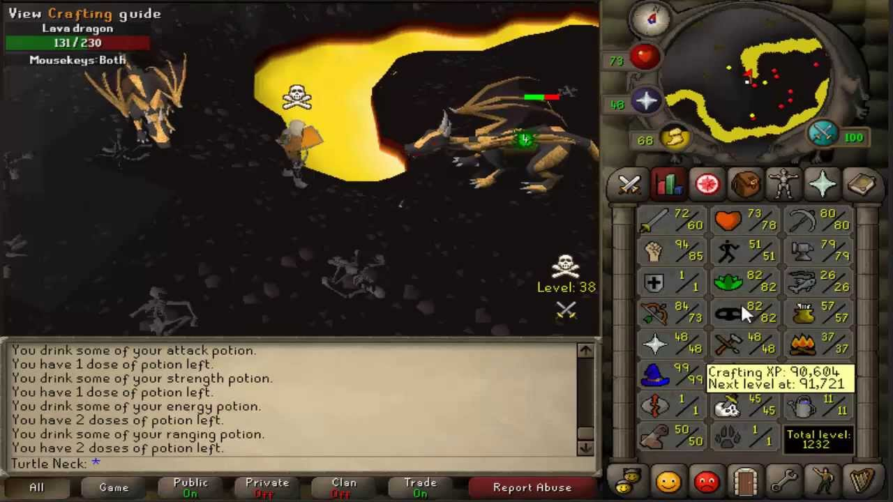 Runescape 2007 Lava Dragons Guide With Safespot Youtube