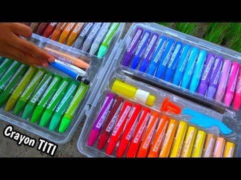 Unboxing Crayon Baru Review Crayon Titi Rainbow Crayon Untuk