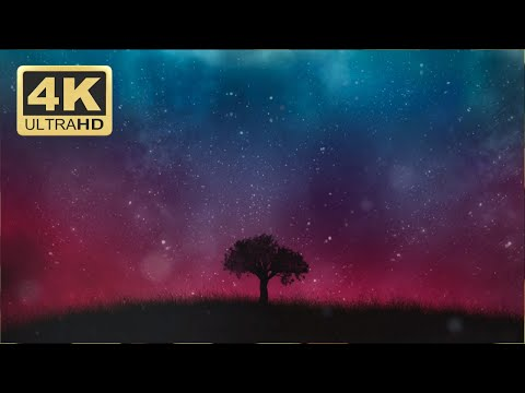 Motion Graphics Background Video Loop - Single Tree Animation 4K - Download Free Footage