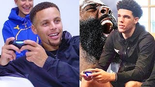 Stephen Curry Plays NBA 2K18 Against Lonzo Ball GAMEPLAY