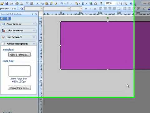 How to Create a Banner in Microsoft Publisher for Your Library - how to make banner for youtube