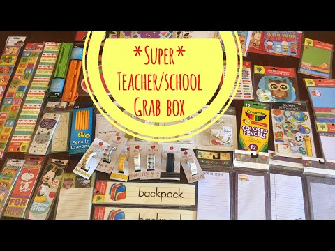HUGE Grab Box | School Theme | Stationery, Washi Tape, etc!