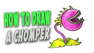 How To Draw A Chomper Easy (Plants vs Zombies) – Mr. Cute Cartoon Drawing Club