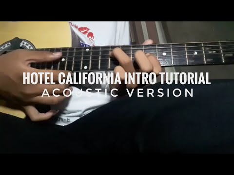 Hotel California Intro Tutorial(AcousticVersion)
