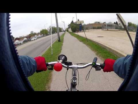 GoPro Bike Ride In Aurora Illinois On Indian Trail Rd.
