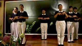 Senior Tzu Ching Indonesia tampil isyarat tangan Qing Shan Wu Zeng
