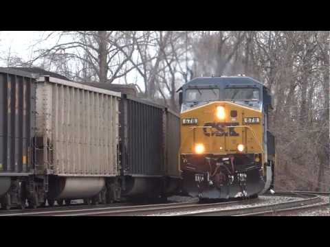 CSX U883 With Helpers Meets Q703 in Relay