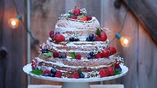 """naked"" Wedding Cake - Gemma's Bigger Bolder Baking Ep. 15 - Gemma Stafford Recipe"