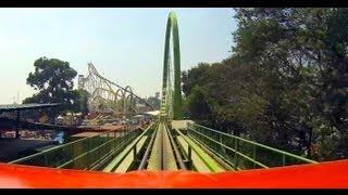 Cascabel Shuttle Loop Roller Coaster POV La Feria Chapultepec Mexico City