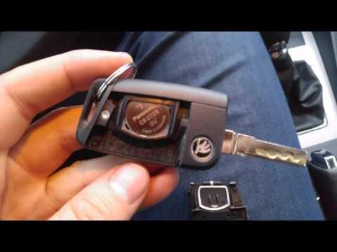 Как разобрать ключ Skoda Octavia A7