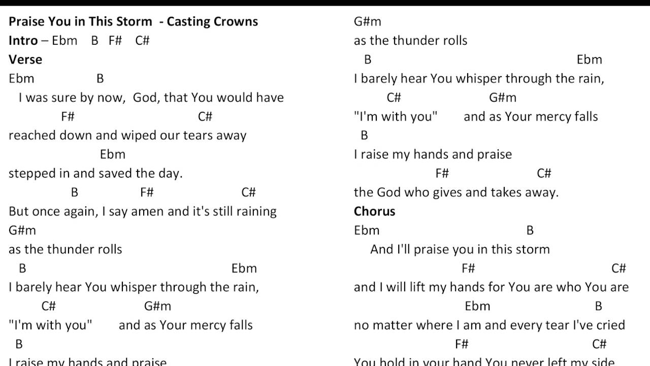 Praise you in this storm casting crowns chords youtube praise you in this storm casting crowns chords hexwebz Image collections