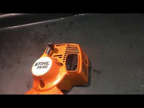 Stihl FS 55. Забитый глушитель