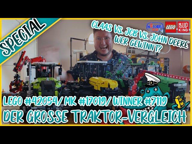 Lego vs. Mould King vs. Winner Bricks: Der große Traktor-Vergleich!