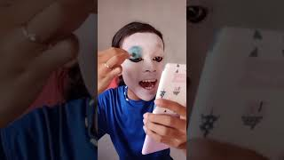 TUTORIAL Make Up Biru Seru Lucu Anti Galau By Bunga Salsabila