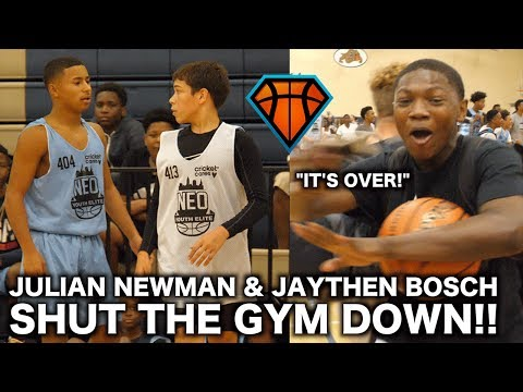 Julian Newman & Jaythan Bosch Get Into HEATED MATCHUP at NEOYE!! | Players STORMS the Court
