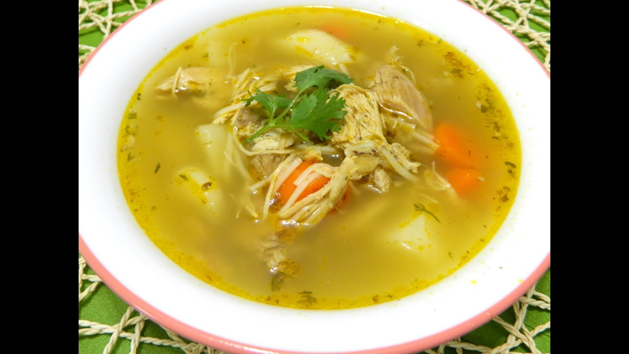 Sopa De Pollo Boricua Puerto Rican Chicken Soup Youtube