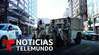 Militarizada y calles vacías: así luce Washington D.C. | Noticias Telemundo