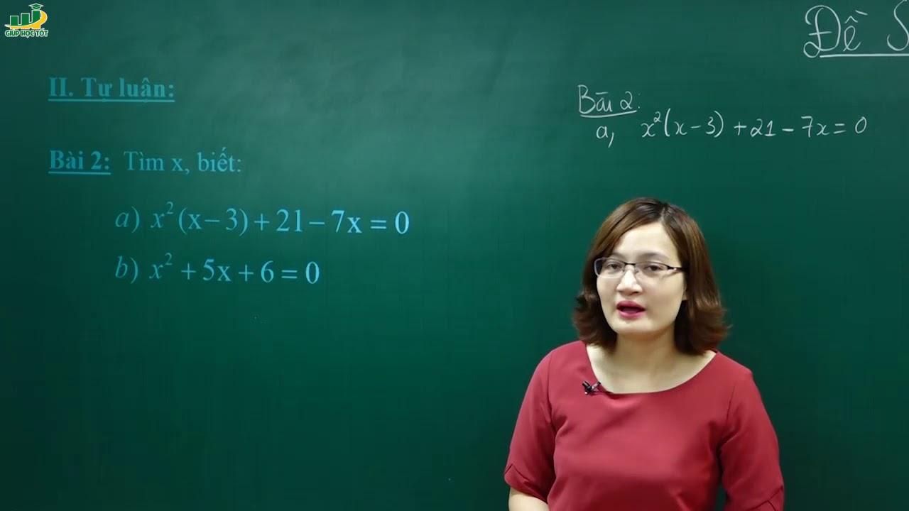 Toán lớp 8–Đề Thi Kiểm Tra môn Toán Lớp 8 CUỐI HỌC KÌ 1(Đề số 1 p1/2)Có đáp án|Hướng dẫn luyện giải