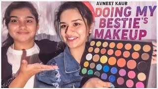 DOING MY BESTIE'S MAKEUP PART 2 | EYESHADOW MAKEUP CHALLENGE | AVNEET KAUR | 2019