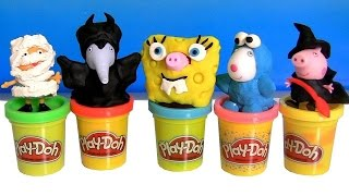 Peppa Pig Dress Up Witch Halloween Costumes Disney Maleficent Play Doh Spongebob Cookie Monster