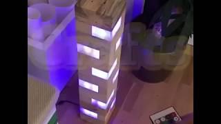 Como Hacer Una Lámpara LED Con Bloques De Madera