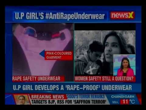 UP girl develops a 'rape-proof' underwear; incorporates GPS alert and calling facility