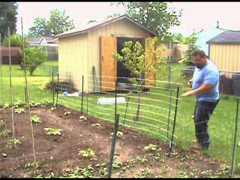 Garden Trellis Welded Wire Fence Installation Youtube