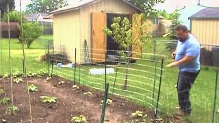 Garden Trellis Welded Wire Fence Installation