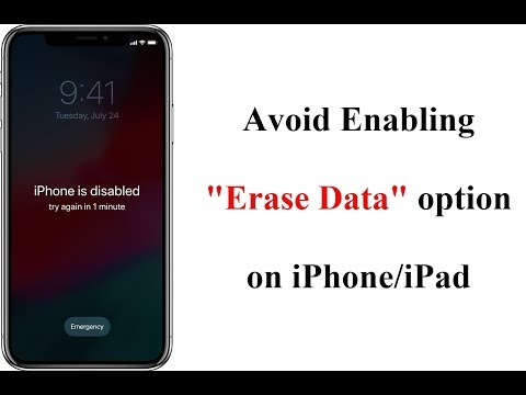 Disable Erase Data Option after too many Passcode Attempts on your iPhone/iPad