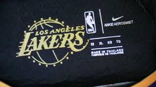 Баскетбольная джерси Nike NBA Los Angeles Lakers №23 Lebron James черная магазин Basket Family