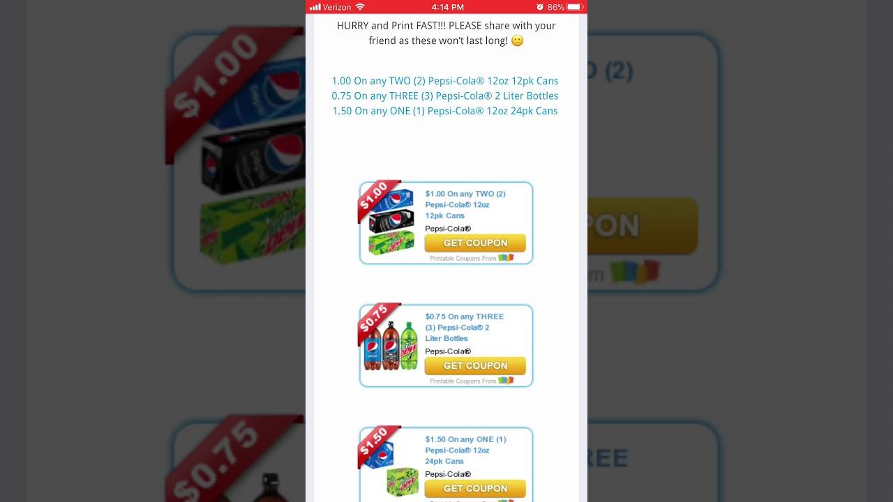 photo regarding Pepsi Coupons Printable known as Fresh Pepsi Discount coupons!!