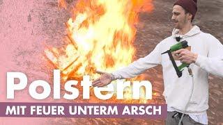 Stühle / Bank polstern – Mit Feuer zum Erfolg | Kliemannsland