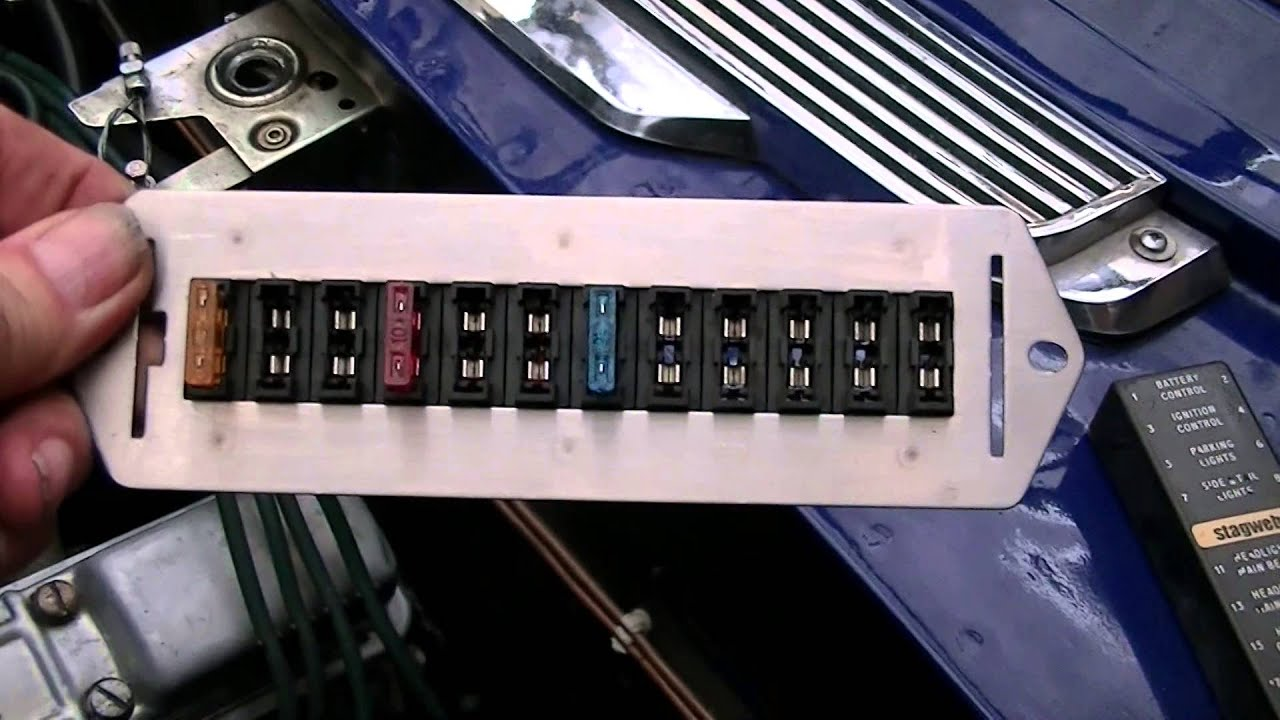 stagweber.co.uk video 4. Triumph Stag Blade Fuse Box. - YouTube on triumph stag interior, triumph stag rear end, triumph stag dash, triumph stag engine swap, triumph stag motor, triumph stag engine conversion, triumph stag wheels,