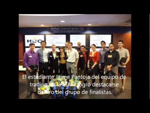 Estudiantes de la EIAM en el Open Outcry Trading Challenge
