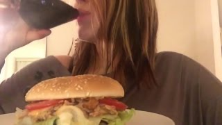 Burger 🍔 W/ Pulled Pork & Red Wine 🍷 ~ Asmr Relaxing Eating Sounds