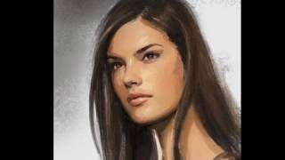 Draw and paint woman fast demo