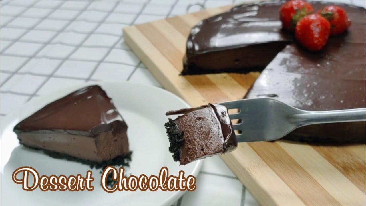 Dessert Chocolate (Tanpa Telur ,Tanpa Gelatin & Tanpa oven) || sangat lumer dan super lembut